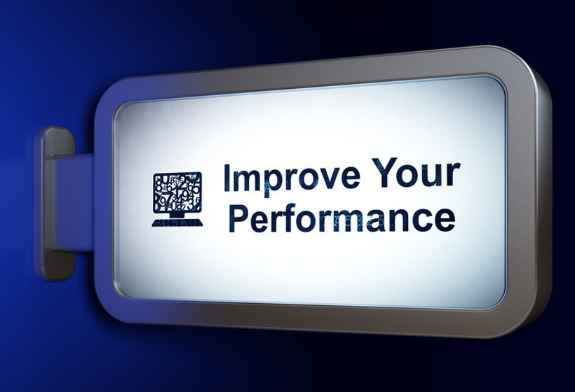 Screen with Improve Your Performance written on it.