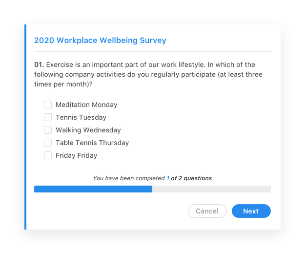 Screenshot Employee Surveys