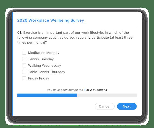 Screenshot Employee Surveys
